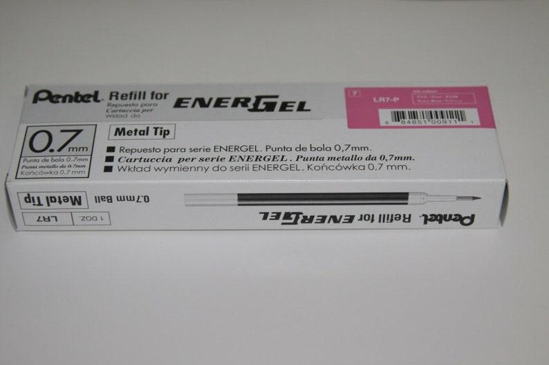12 pcs Pentel Energel Refill 0.7mm PINK color Made in Japan one dozen in box