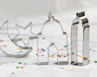 Islamic Shape Cookie Cutter Gift Set. Muslim Cookie cutters. Eid Cookie cutter. Eid gift, Ramadan gift. Muslim gift, Islamic gift