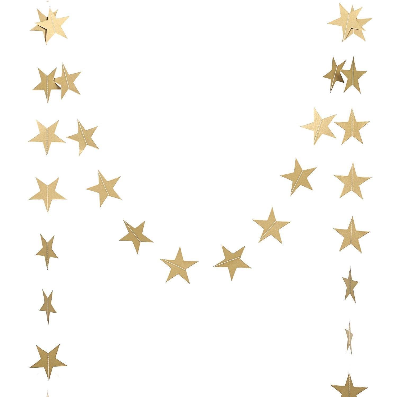 Gold Metallic Star Garland Wedding Decor Gold Star Garland Etsy