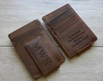 Personalized Wallet, Engraved Mens Wallet ,Gifts for Dad, Leather Wallet, Husband Gift, Christmas Gifts for Him, Engraved Gift