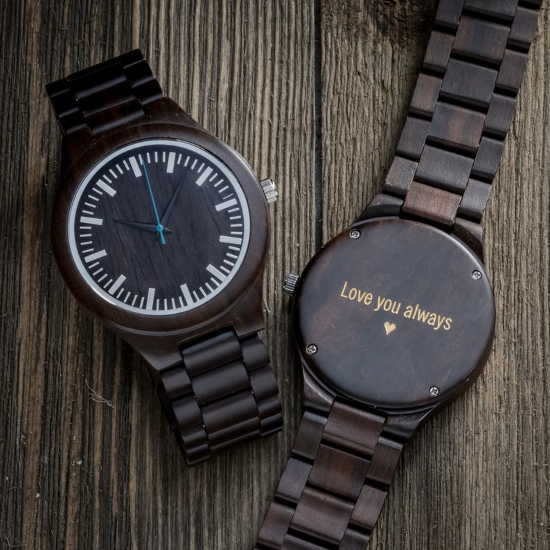 To Dad Gifts For Wood Watch Birthday Father Gift