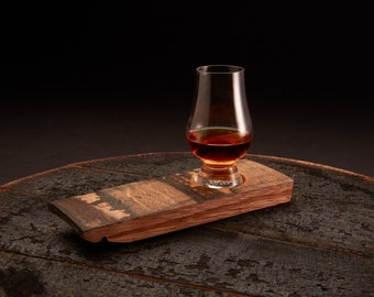 Premium Single Glass Barrel Whiskey Flight Board, Glencairn Whiskey Glasses, Whiskey Flight, Whiskey Tasting Set, Engraved Bourbon Flight
