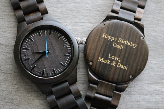 Personalized Wood Watch Groomsmen Watches Mens Wooden Watch Etsy