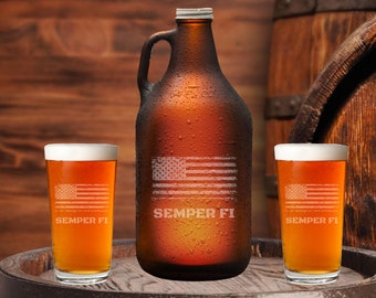 Beer Growler 64oz, Engraved Custom Growler, Husband Gift, Personalized Growler, Gift For Him, Engraved Growler Set, Unique Gifts For Him