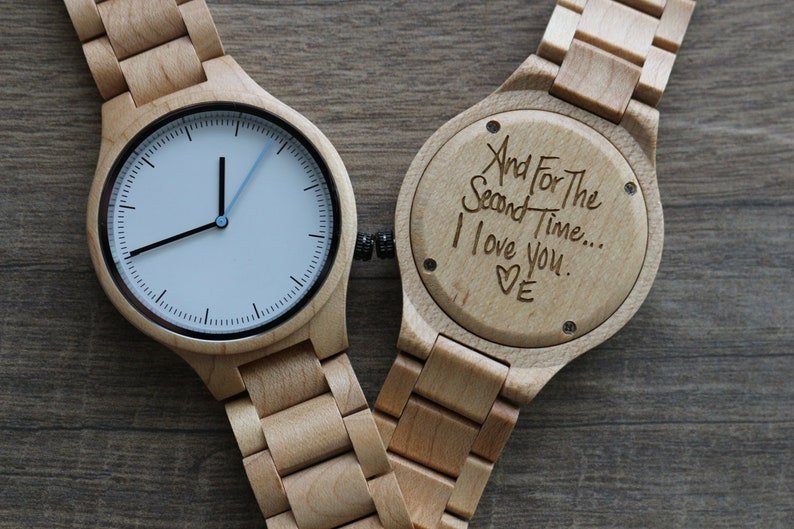 325274b75ca1d Wood Watch Engraved Wood Watch Anniversary Gifts for