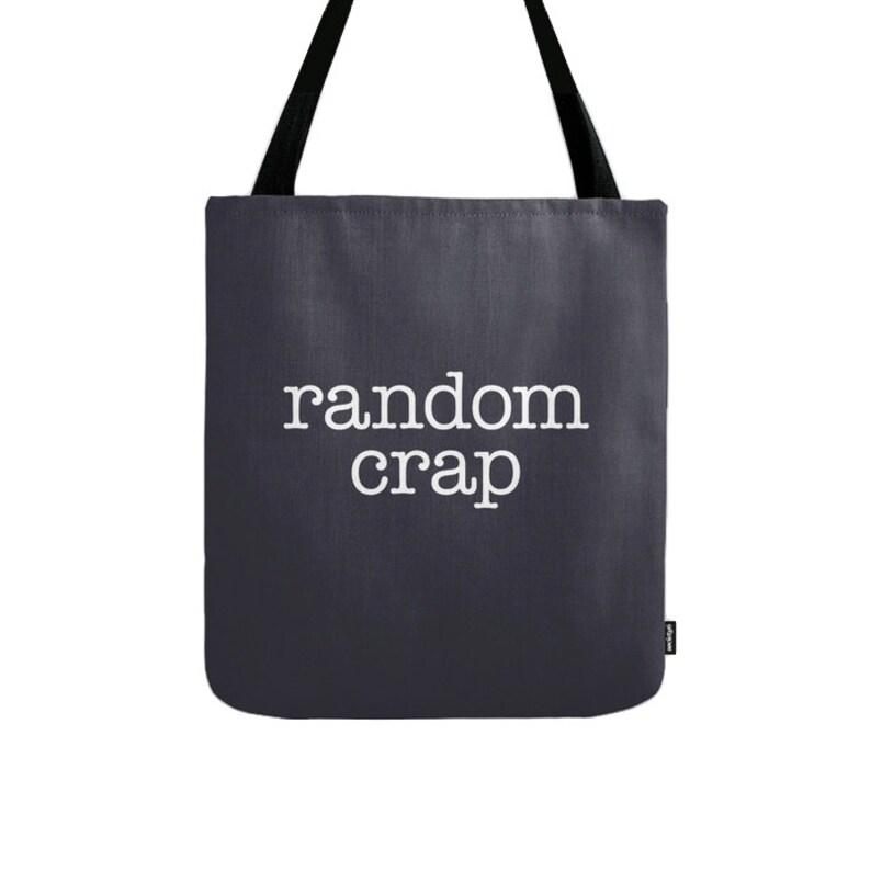 Random crap tote bag blue tote bag blue Random crap canvas bag blue words bag blue bag words tote bag canvas tote bag shopping canvas bag