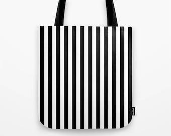 Black and white stripes tote bag stripes bag navy black tote bag stripes tote bag monochrome tote bag beach tote summer tote bag summer bag