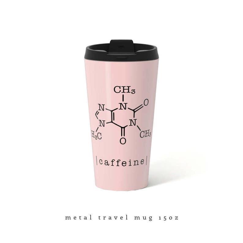 Gift Caffeine Mug Travel Her For Metal Molecule Pink PXTukiOZ