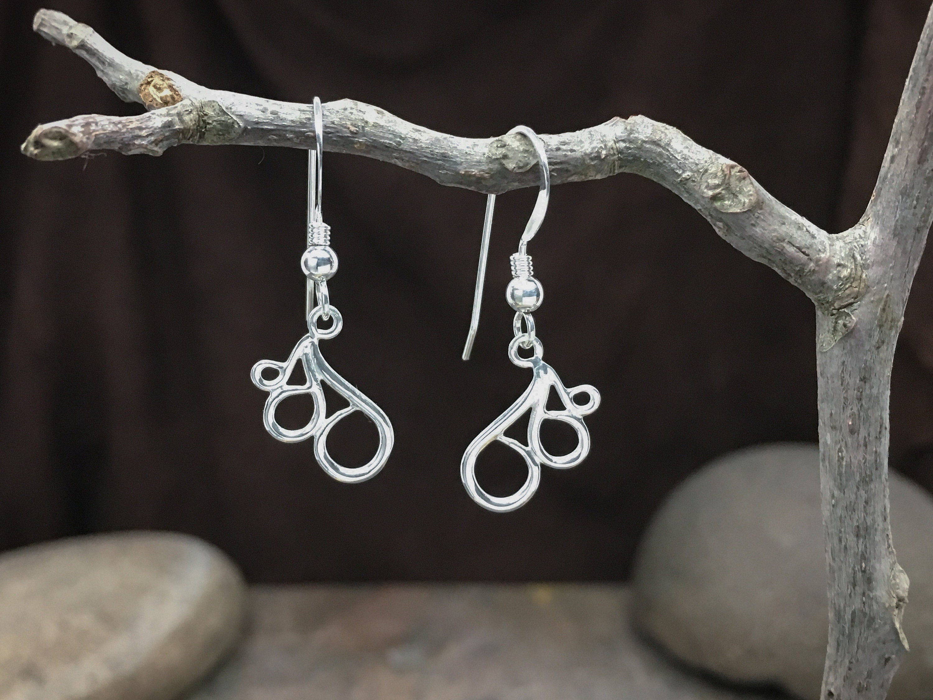 "Fancy Earrings ""small"" in solid Sterling Silver - Fine Jewelry for anniversary gifts, birthday gifts, wife gifts or a nice thank you gift!"
