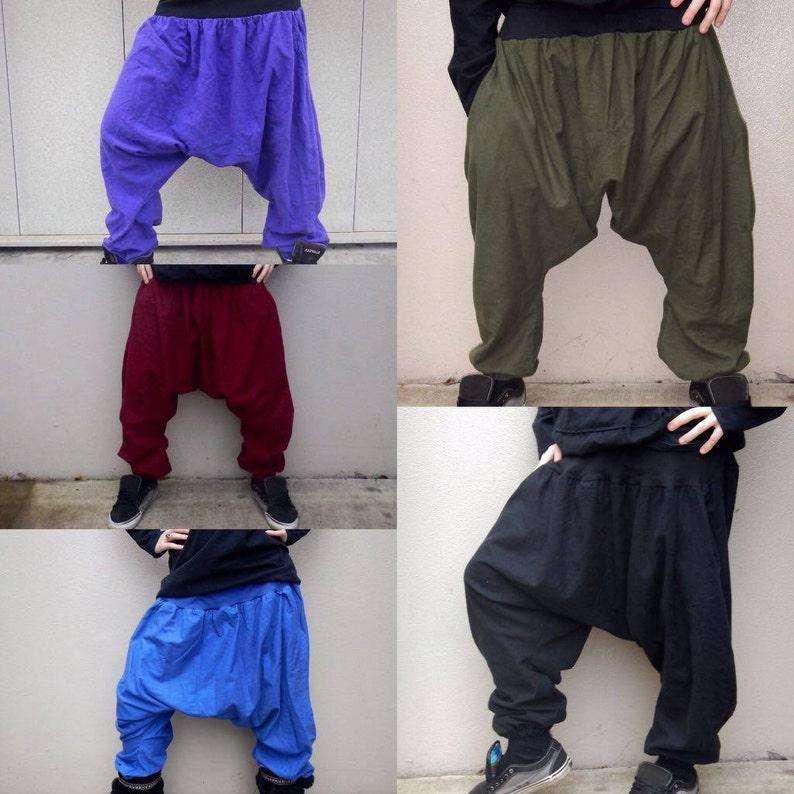 cd95b0da79 Not-So-Dropped Crotch Harem Pants 100% Cotton Flannel