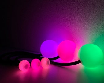 """LED """"Pod Mods"""" Contact Poi. 90mm 95mm and 100mm"""