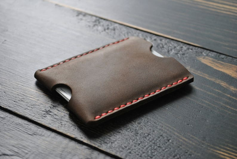 Minimalist Wallets,Gifts Wallet The Inside Out Men/'s Leather Wallet Leather Wallets Slim card sleeve.