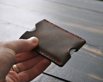Wallet, The Inside Out Men's Leather Wallet, Minimalist Wallets,Gifts, Leather Wallets, Slim card sleeve.