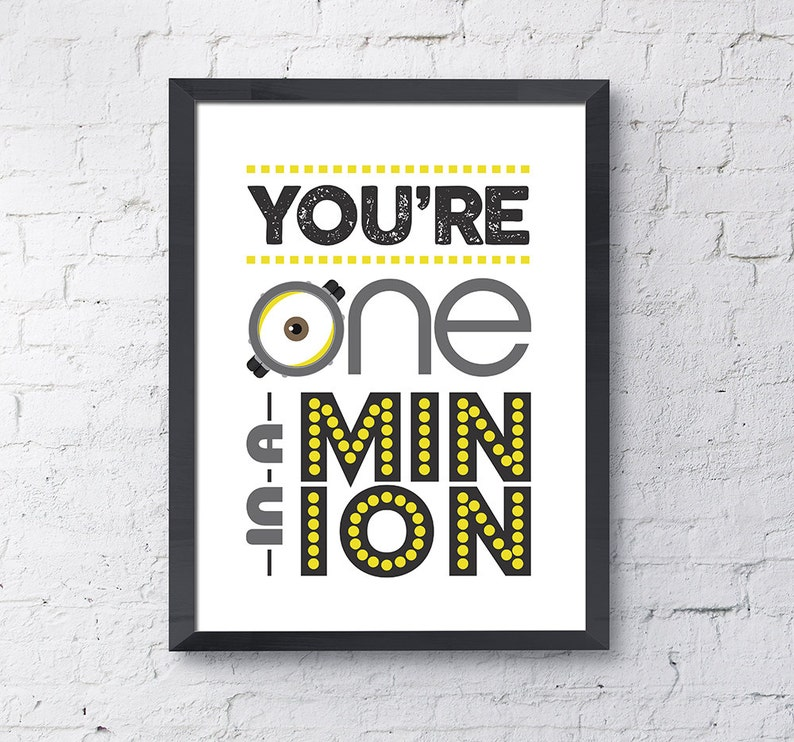 graphic relating to You Re One in a Minion Printable named 1 within a Minion / Minion / Minions / Minion Printable / Minion Poster / Minion Artwork / Minions Affiche / Instantaneous Obtain / Electronic Obtain