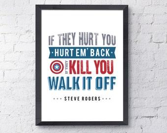 Captain America / Marvel / Marvel Quotes / Captain America Print / Marvel Prints / Captain America Poster / Instant Download / Digital