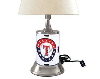 Texas lamp shade etsy table lamp with shade texas rangers plate rolled in on the lamp base aloadofball Image collections