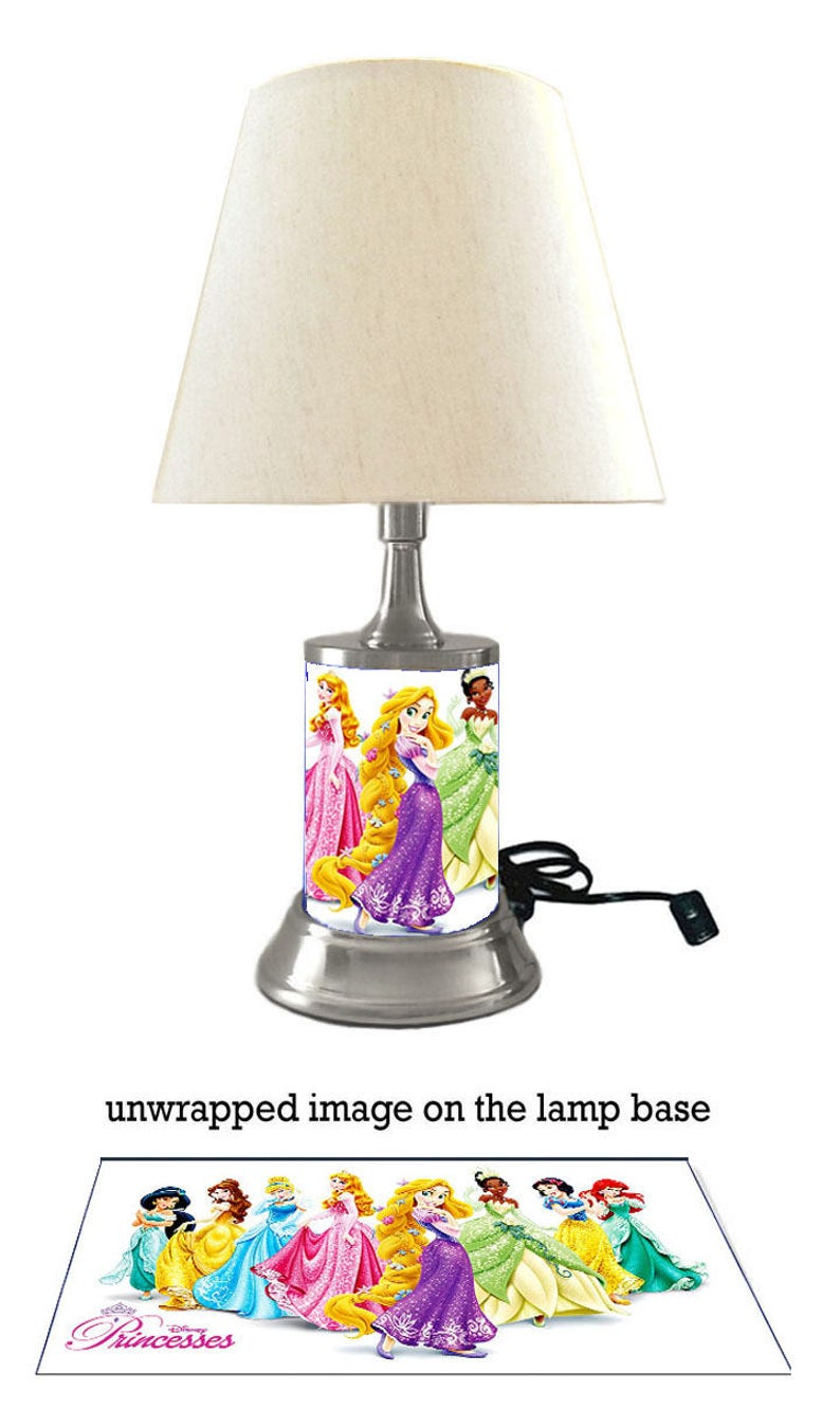 Disney Princess Lamp With Shade 8