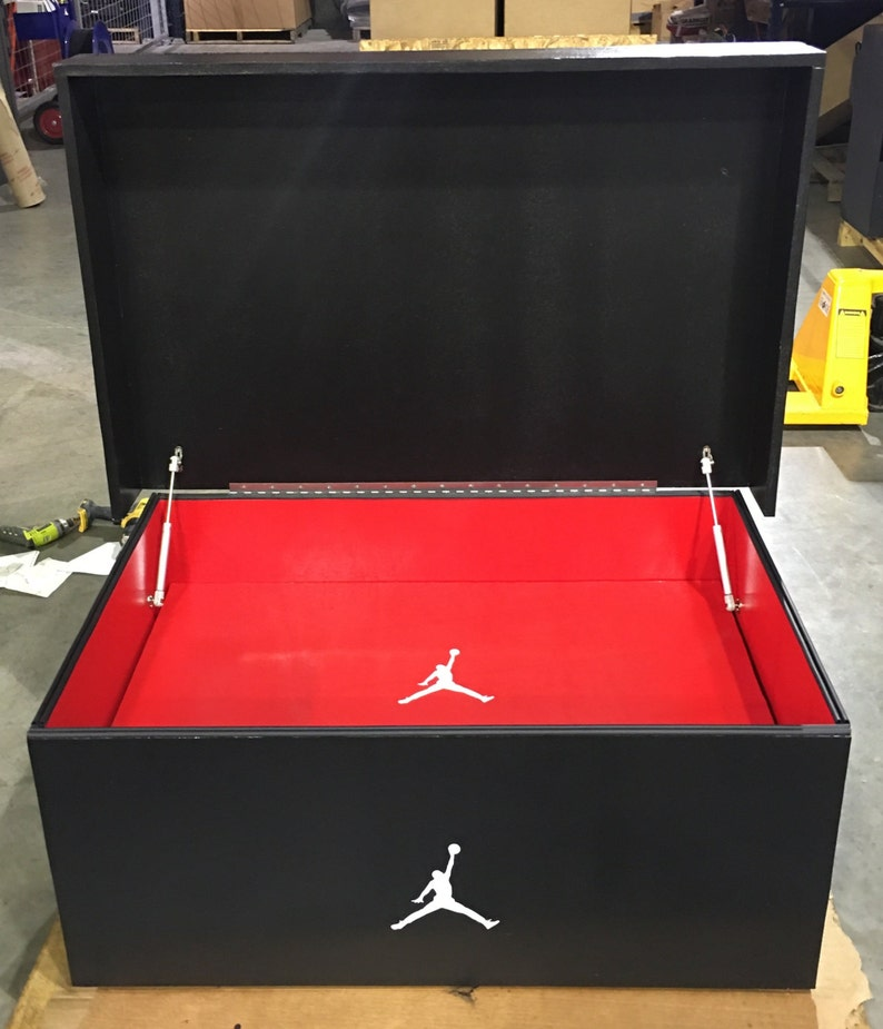 ae38981bb77 Giant Air Jordan Inspired Shoebox Storage Apple Red Inside | Etsy