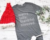 merry. jolly. thankful. b...