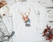 Hipster Reindeer Long Sleeve Tee