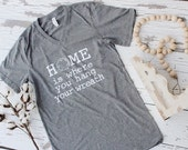 Home is Where You Hang Your Wreath tee