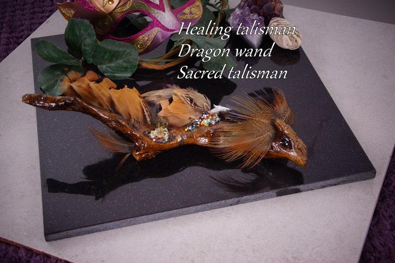 Magic wand, witches wand, dragon wand  crystal wand, ayahuasca wand  Shaman  healing wand, talking stick, OOAK hand made magic wand