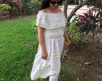 Campesino mexican beige dress