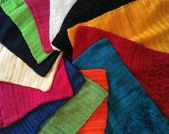 """70"""" inches (including fringes) X 20"""" inches / Typical Mexican Rebozo For Newborn Babies / 177 cm (including fringes) X 50 cm"""