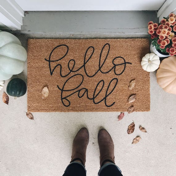 Hello Fall Welcome Mat