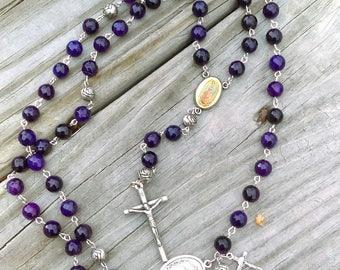 Purple Rosary & Steering wheel rosary