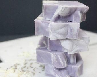The Lavender Swirl Soap Bar | Full Size Artisan Bar Soap