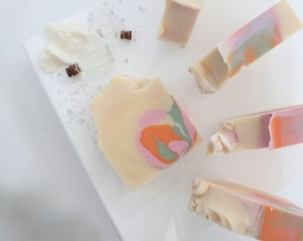 Spring Nectar Soap Bar   handmade soap   homemade soap   artisan soap   mother's day gift   body soap   skin care   gift for friend