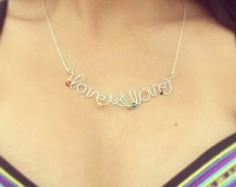 Love is Love-PLUS SIZE necklace