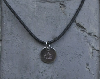 Engraved Lotus flower Necklace