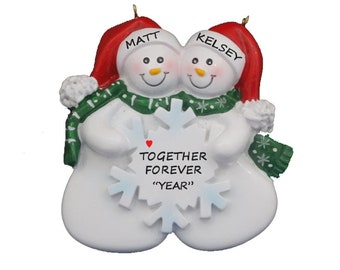 Personalized Snow Couple Christmas Ornament Together Forever - Custom  Ornament for Couple - Our 1st Christmas - Couples 1st Christmas