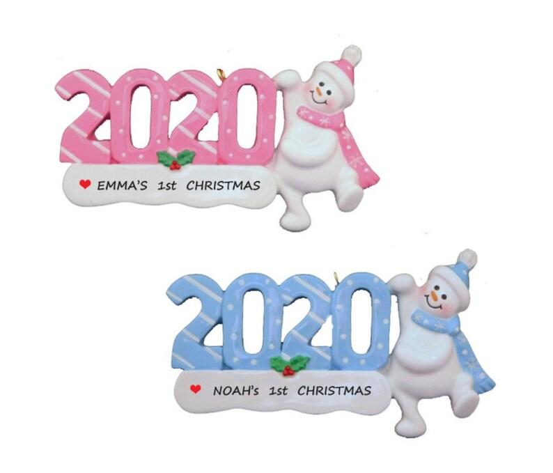 1st Christmas Ornament Custom Ornament Personalized 2020 Baby/'s 1st Christmas Ornament Baby Girls 1st Christmas Baby Boys 1st Christmas