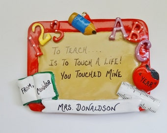 Personalized Teacher Ornament from Student - Favorite Teacher Ornament from Student
