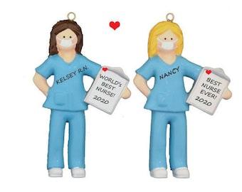 Best Nurse Personalized Ornament - World's Best Nurse Personalized Christmas Ornament