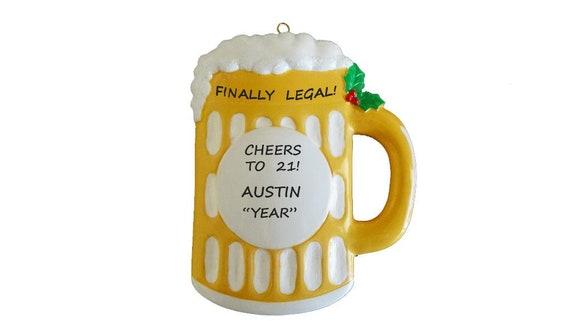Beer Mug Personalized Christmas Ornament