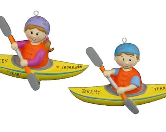Personalized Kayaking Ornament for Male or Female