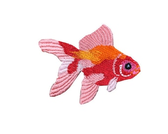 goldfish embroidered patch patch cute patch iron on patch sew on patch