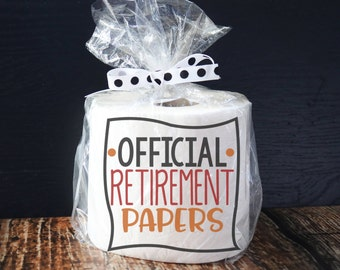 Retirement Gift Ideas/ Funny Retirement Gifts/ Joke Gifts/ Gag Gifts/ Gag Retirement Gifts/ Funny Gift for Men/ Official Retirement Papers