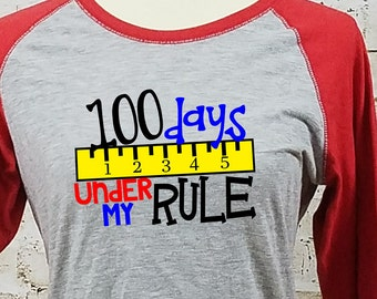 100 Days of School/ Teacher T-Shirt/ 100th Day of School Shirt/ Teacher Shirt/ Teacher 100 Days/ 100 Days School Party/ School Shirt