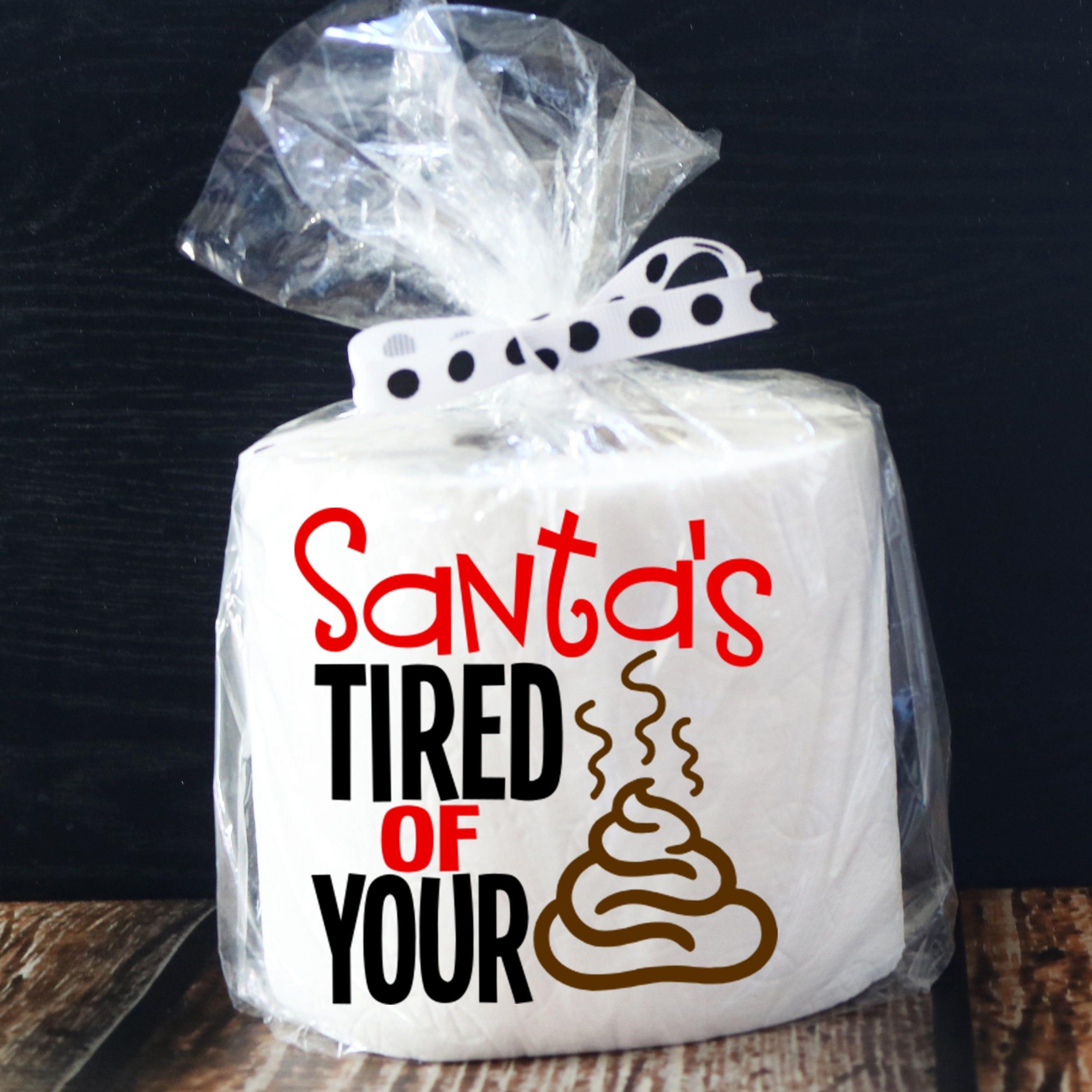Weihnachten-Gag-Geschenk / Funny Weihnachtsgeschenk / Santa / Secret Santa weiß Elefant / Poop Emoji / Geschenk-Kartenhalter / Töpfchen Humor / ...