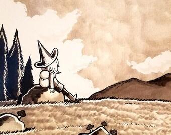 Mountain Witch - Medium Print