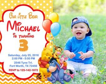Winnie the Pooh Invitation, Winnie the Pooh Birthday, Winnie the Pooh Party
