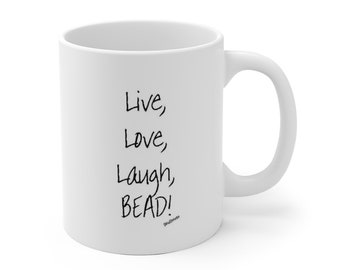 Live Love - White Ceramic Mug