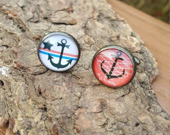 Nautical Anchor Cuff Links