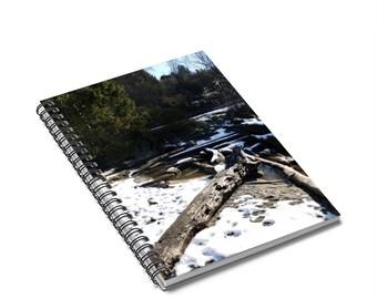 Mukilteo in Winter Spiral Notebook - Ruled Line