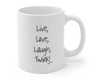 Twirk - White Ceramic Mug